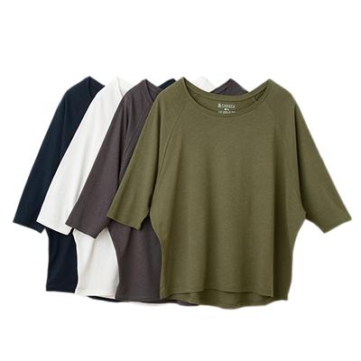 竹布(TAKEFU)竹のドルマン七分袖Tシャツ(レディース)(NF18)